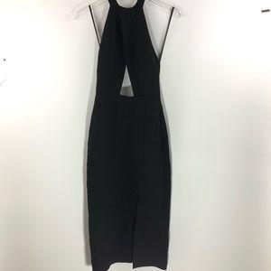 Nasty Gal • Black halter neck Evening Dress